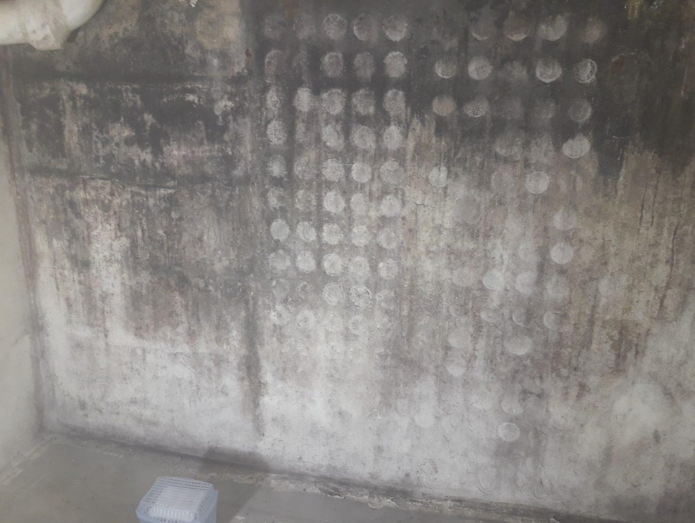 Werf Ternat: vloer- en wanddrainage systeem kelder 1
